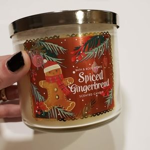 Bath & Body Work Spiced Gingerbread Scented Candle